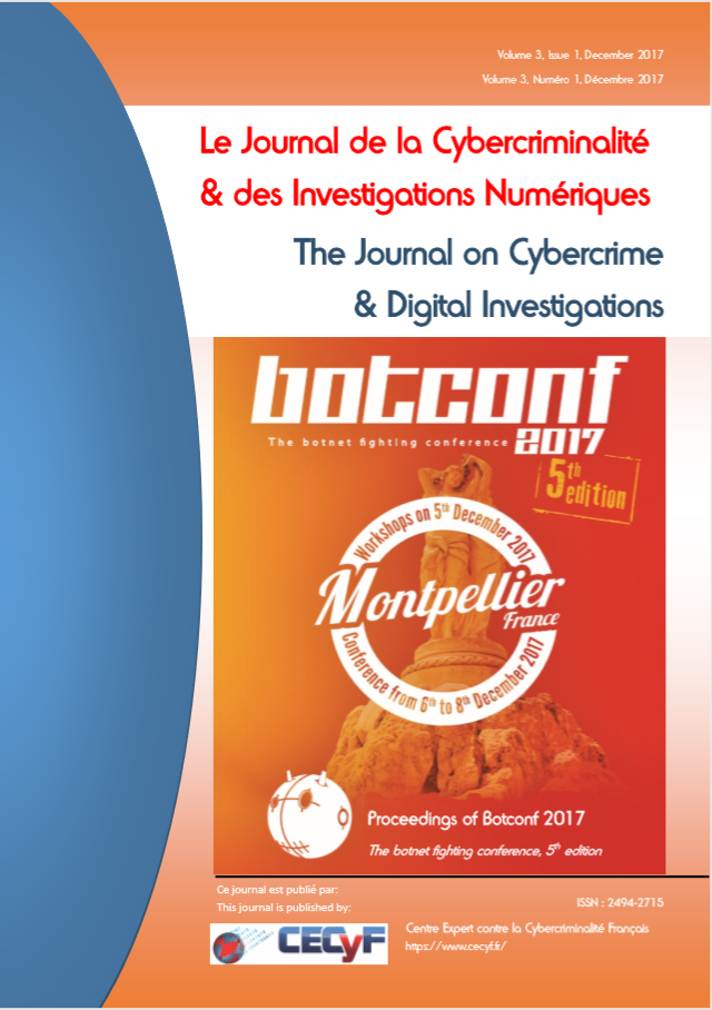 Botconf 2017 proceedings cover